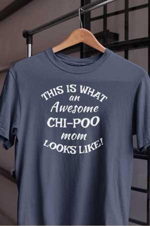chi-poo shirt Awesome Dog Mom