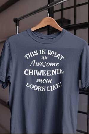 chiweenie shirt Awesome Dog Mom