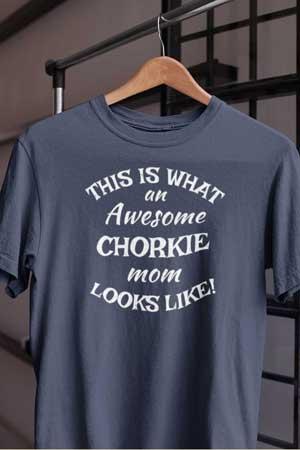 chorkie shirt Awesome Dog Mom