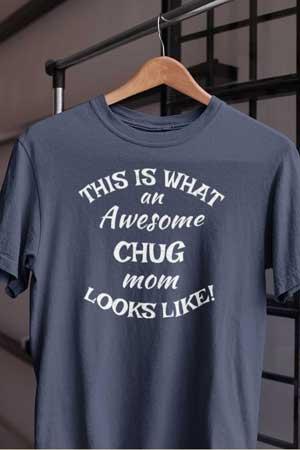 chug shirt Awesome Dog Mom