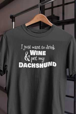 dachshund wine shirt