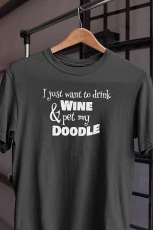doodle wine shirt