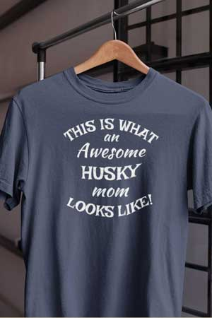 husky shirt Awesome Dog Mom