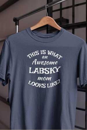 labsky shirt Awesome Dog Mom