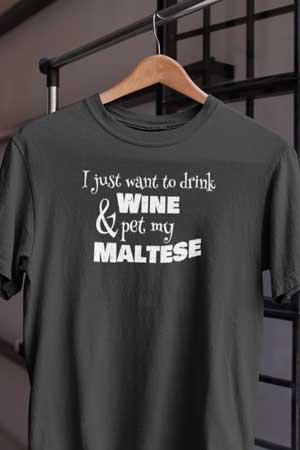 maltese wine shirt