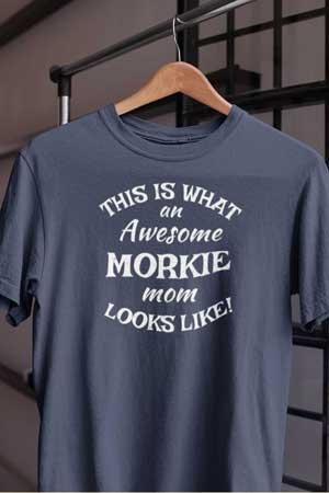 morkie shirt Awesome Dog Mom