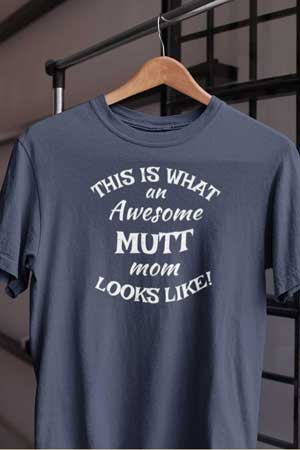 mutt shirt Awesome Dog Mom