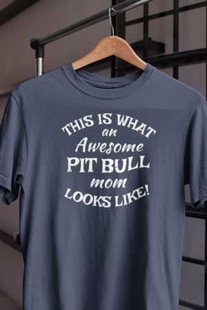 awesome pit bull mom shirt