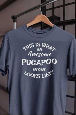 pugapoo shirt Awesome Dog Mom