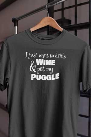 puggle wine shirt