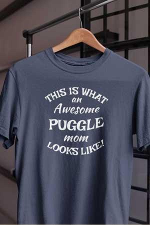 puggle shirt Awesome Dog Mom