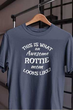 rottweiler shirt Awesome Dog Mom