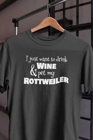 rottweiler wine shirt