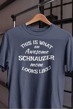 schnauzer shirt Awesome Dog Mom