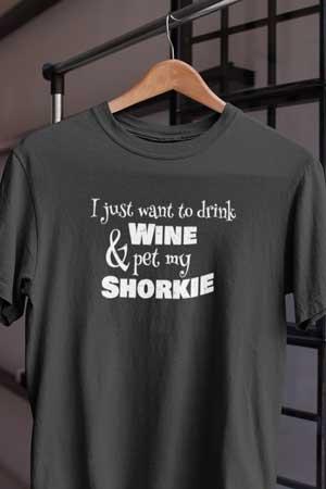 shorkie wine shirt
