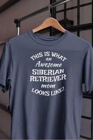siberian retriever shirt Awesome Dog Mom