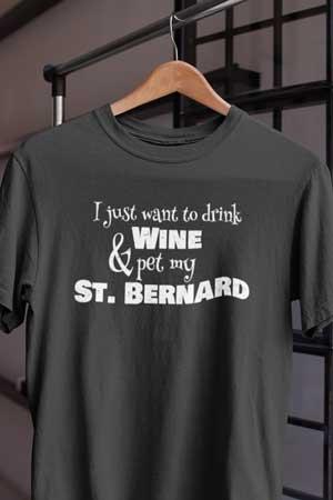 St. Bernard wine shirt