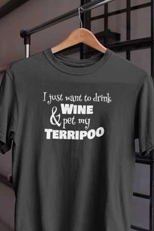 Terripoo wine shirt