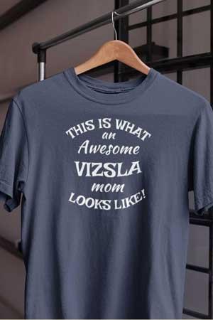 vizsla shirt Awesome Dog Mom