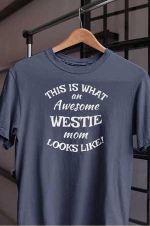 westie shirt Awesome Dog Mom