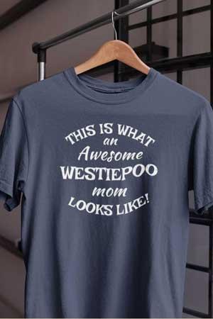 westiepoo shirt Awesome Dog Mom