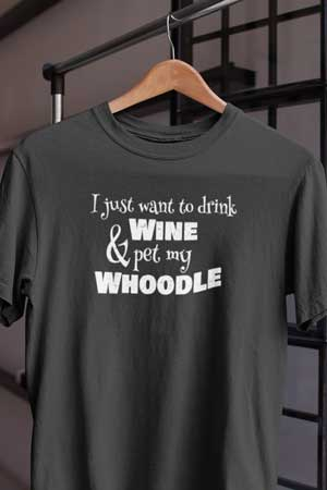 whoodle wine shirt