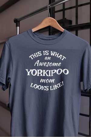 yorkipoo shirt Awesome Dog Mom