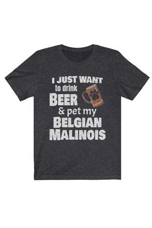 I just want to drink beer dog shirt