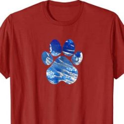 cobalt dreams paw t-shirt